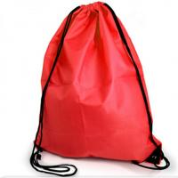 Buy cheap Custom logo printed promotion Red drawstring bags from wholesalers