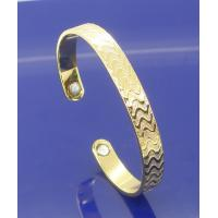 Buy cheap Custom size fashion, good for health copper red , gold color magnetic bangle from wholesalers