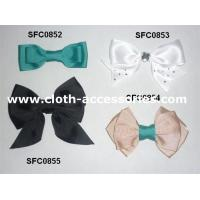 Buy cheap Bowknot Green Fabric Flower Corsage Prom Gross Grain For Teenage Hair Bows from wholesalers
