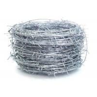 Buy cheap Silver Electric Galvanized Security Barbed Wire Low Carbon Steel BWG 12 14 16 from wholesalers
