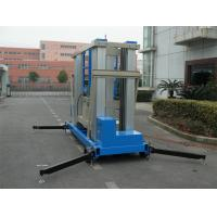 Buy cheap 22 M Aluminum Alloy One Man Lift Motor Driven Blue For Window Cleaning from wholesalers