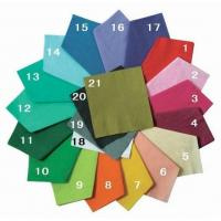 Buy cheap Color Solid Paper Napkin,Decoration Range from wholesalers