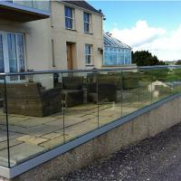 Buy cheap Aluminum U Channel Profile Glass Balustrade Railing with Stainless Steel Handrail from wholesalers
