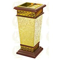 Buy cheap Restaurant Room Service Equipments , GPX-182 Wood Dustbin With Diamond Simulation from wholesalers