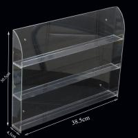 Buy cheap Clear 3- Shelve Wall-Mounted Acrylic Nail Polish Display Rack Organizer from wholesalers