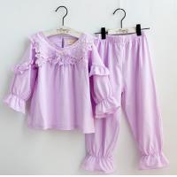 Buy cheap Gril's Spring Long Sleeve Pink  Pajamas Homewear  Leisure wear from wholesalers