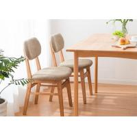 Buy cheap Home Contemporary  Fabric Solid Wood Dining Chairs Natural Wood Color Eco -  Friendly from wholesalers