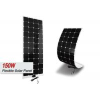 160w Semi Flexible Monocrystalline Solar Panel For Motorhomes Easy Installation