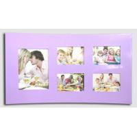 Buy cheap wave shaped photo frame wood photo frame purple photo frame multi picture photo frame from wholesalers