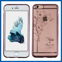 Buy cheap Plating Apple Iphone 6 Protective Cases Anti Scratch Clear Crystal from wholesalers