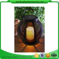 Buy cheap Medium Round Outdoor Rattan Solar Lantern With 2V / 80MA Solar Panel from wholesalers