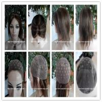 Buy cheap Human hair full lace wig  10-26L 4#/27#color Straight indian remy hair,120%-180% density from wholesalers