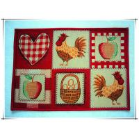 Buy cheap Rooster design colorful decorative fancy anti-slip floor mat tapestry fabric door mat from wholesalers