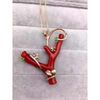 Buy cheap Fantasy Red 925 Silver Pendant , Corallite Tree Sterling Silver Leaf Pendant from wholesalers