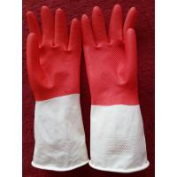 Buy cheap Household Latex Gloves 40g thin dish washing gloves Bi-color rubber gloves from wholesalers