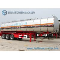 Buy cheap Ellipse Steam Heat Bitumen Tank Trailer , 28000L 2 Axle Semi Truck Trailer from wholesalers