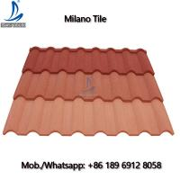 China Sangobuild Metro Eco Roofing Tile / Stone Coated Eco-Friendly Metal Types Roof Tiles on sale