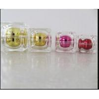 Buy cheap 15g 30g 50g Crystal Double Wall Rounded Square Acrylic Cream Jar and Bottles product
