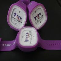 Buy cheap Purple Colour Silicone Rubber Jelly Band Watch 3ATM Water Resistant , White Face from wholesalers