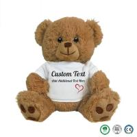 Buy cheap 20cm wearing teddy bear plush toys and white T-shirt bear clothes can print logo manufactures customized small batch toy product