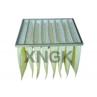 Buy cheap Synthetic Media Pocket Air Filter  V Shape Galvanized Steel Frame from wholesalers