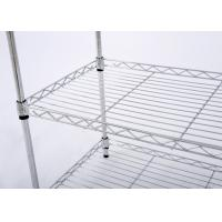 Buy cheap H308 Chrome - Plated Metal Wire Display Racks , Modern Metal Storage Rack from wholesalers