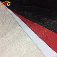 Buy cheap Strong Artificial PVC Leather Fabric With Nonwoven Backing Crocodile Design product