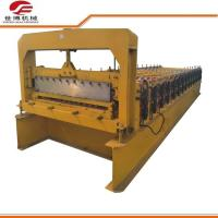 Buy cheap Roofing Plate Trapezoidal Sheet Roll Forming Machine 5.5kw Power Custom Colors from wholesalers