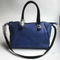 Buy cheap Sky Blue Zipper Trim PU Boston Bag from wholesalers