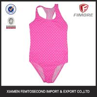 Buy cheap Children Fancy Girl's small dot printed one piece swimming suit from wholesalers