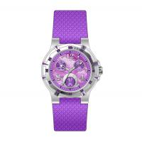 Buy cheap Ladies Round Multifunction Wrist Watch With Vogue Six Hands Purple from wholesalers