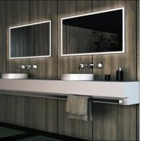 Buy cheap framelss LED bathroom mirror, square lighted bathroom mirror from wholesalers