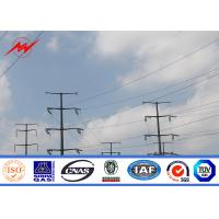 Buy cheap 110kv Galvanized Electrical Power Pole / Steel Cross Arm For Electricity Distribution from wholesalers