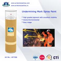 Buy cheap Undermining Mark Spray Paint / Mine Marking Out Paint & Non-Flammable Layout Marker product
