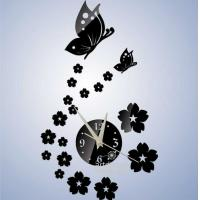 Buy cheap Unique Gift The Butterfly and Flowers Design 3D Best Home Decoration Mirror Wall from wholesalers