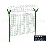 Buy cheap 3D Panel Fence with Y Post Barb Razor on Top from wholesalers