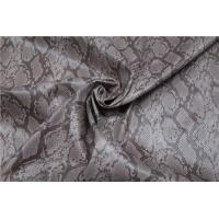 Buy cheap Snake Skin Design Printed PU Leather 0.65mm For Ladies Jacket / Bags from wholesalers