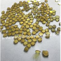 Buy cheap Single Crystal Diamond Plate,yellow MCD, SCD plate,A grade CVD from wholesalers