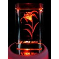 Buy cheap D Laser Orchid Crystal Cube with Light Base (JC4372CL) from wholesalers