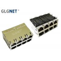"""Buy cheap 2 x 4 Stacked 10G Ethernet Port Rj45 Connector 30 U"""" Gold Plating product"""