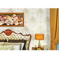 Buy cheap Soundproof Modern Removable Wallpaper / Contemporary Bathroom Wallpaper With Beige Color from wholesalers