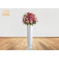 Buy cheap Small Glossy White Fiberglass Planters Floor Vases Decorative Flower Pots from wholesalers