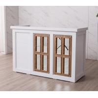 Buy cheap Nordic Design White Reception Desk With Display Case Mirror Customized Size from wholesalers