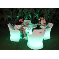 Led outdoor lighting furniture plastic lighted chair and for Sofas exterior polietileno