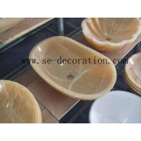 Buy cheap honey onyx basin from wholesalers