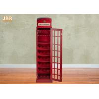 Buy cheap Indoor Decor Wooden Telephone Booth Wine Bottle Rack from wholesalers