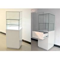 Buy cheap White Glass Wooden Jewelry Display Cases With Locks 500 X 500 X 1500MM product