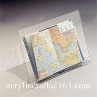 Buy cheap Perspex bent book stand, desktop transparent acrylic brochure holder from wholesalers