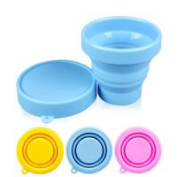 Buy cheap 100% silicone rubber Products unbreakable foldable drinking cup with lid product