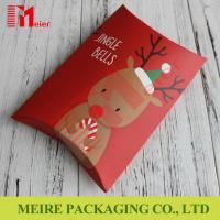 Buy cheap New red printing Christmas creative candy gift box candy pillow box with cheap price from wholesalers